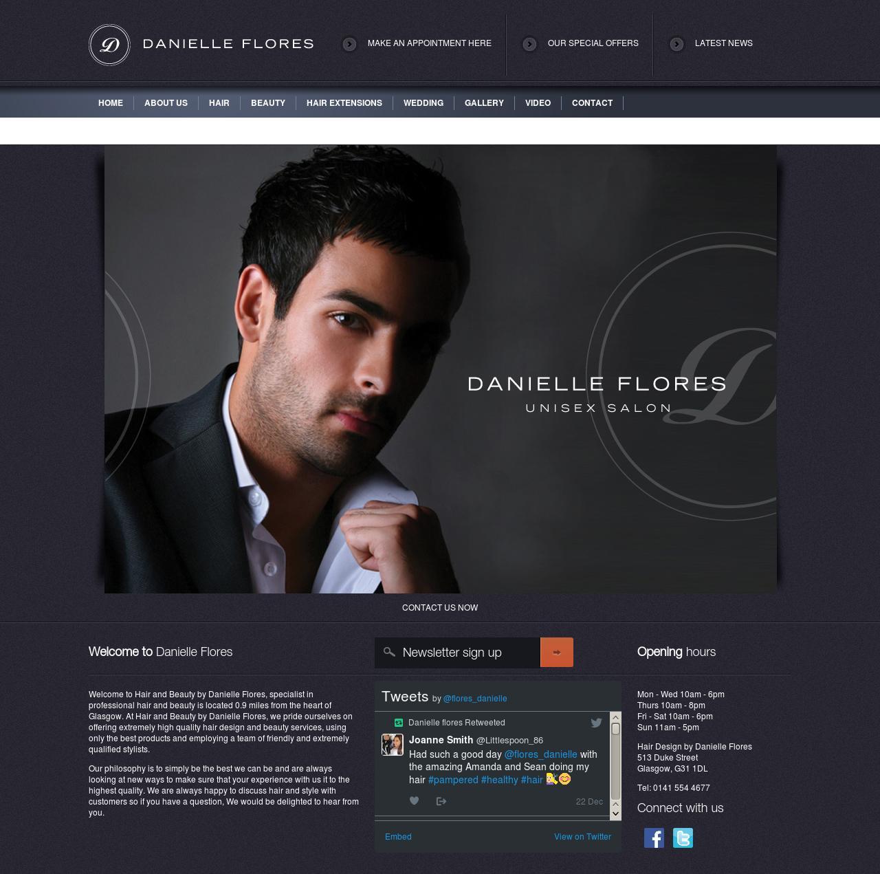 danielle flores website