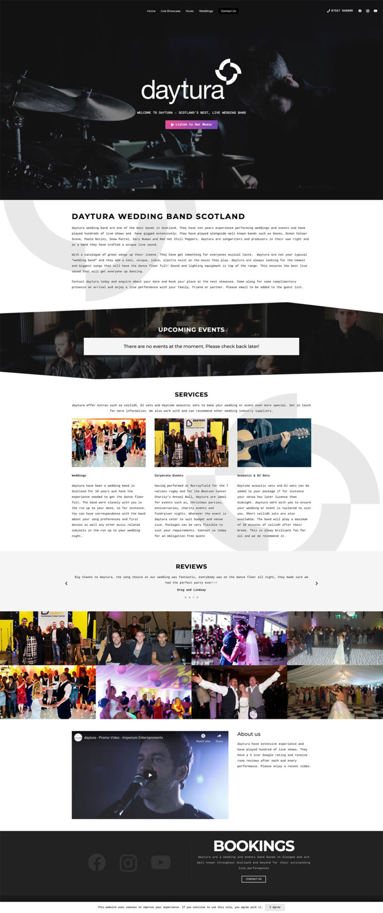 daytura website design
