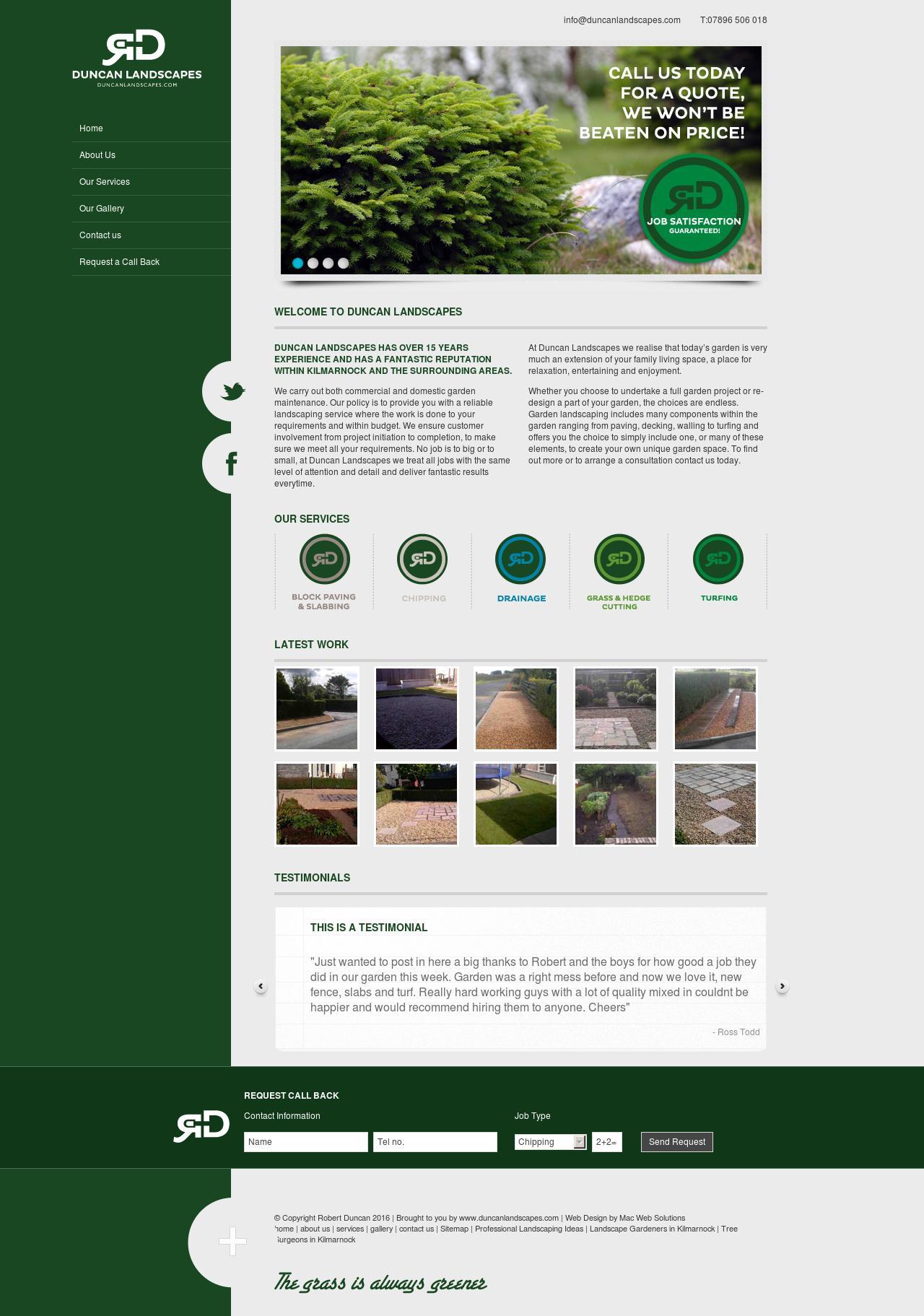 duncan landscapes website