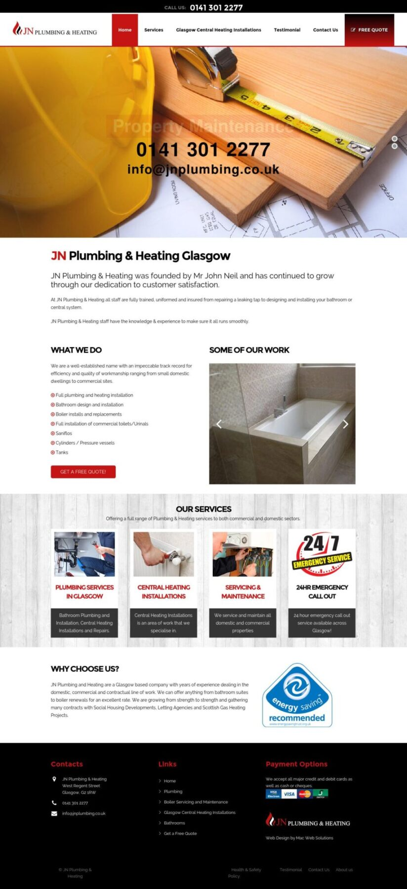 JN Plumbing and Heating Web Site