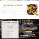 massimos website design