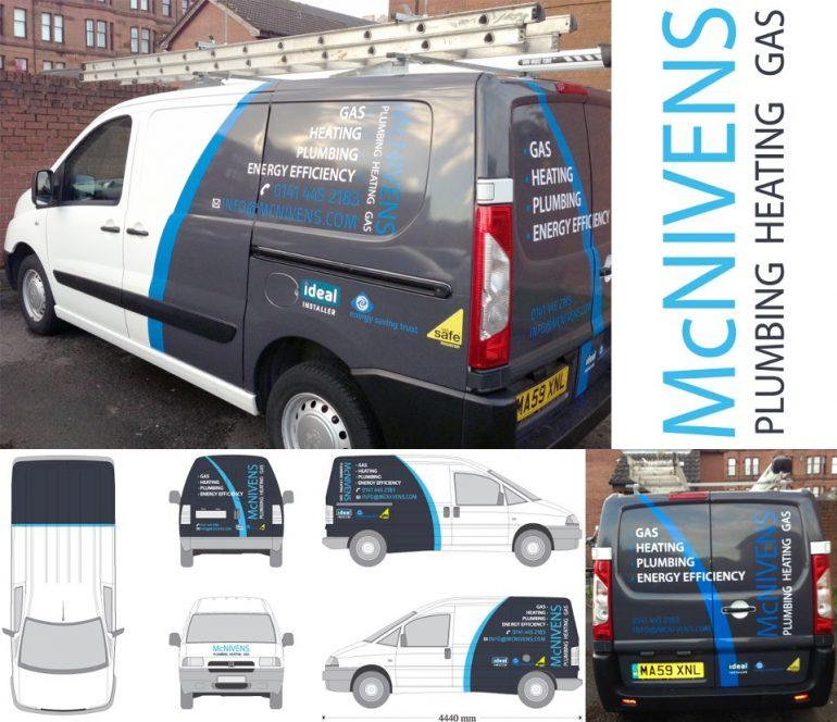 McNivens Plumbing & Heating Van Wrap