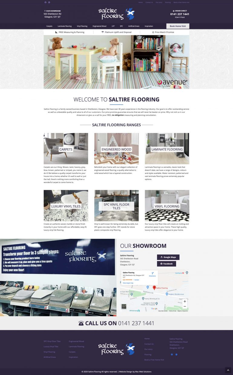 saltire flooring website design