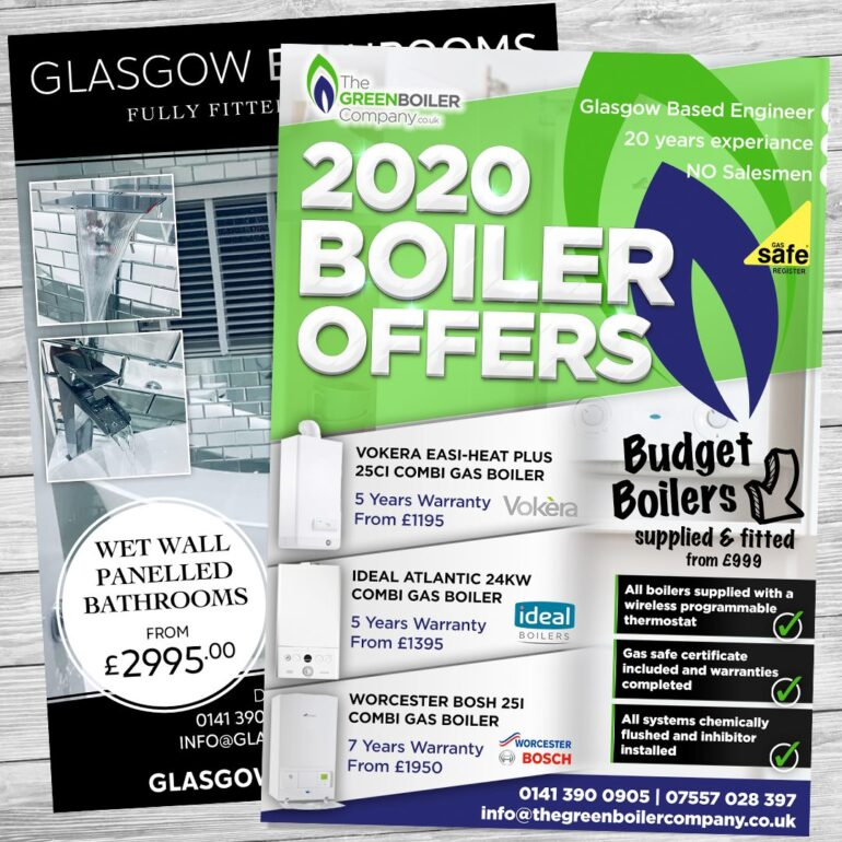 the green bolier company flyer design